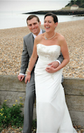 our wedding in whitstable on the beach