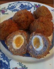 scotch egg recipe, the ultimate scotch egg recipe, scotch eggs soft yolk, haggis scotch eggs, haggis scotch egg recipe