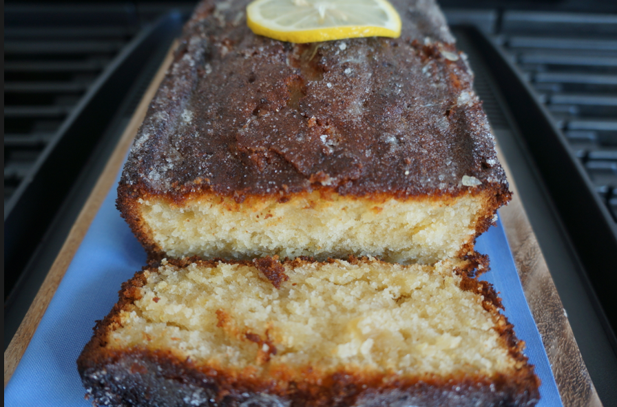 citrus ginger and coconut loaf cake